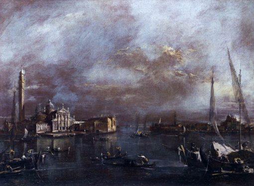 Bacino di San Marco with San Giorgio and the Giudecca   Francesco Guardi   Oil Painting