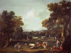 Bull-Hunting | Francesco Zuccarelli | Oil Painting