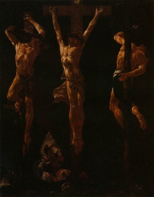 Christ Crucified between Two Thieves | Giovanni Battista Piazzetta | Oil Painting