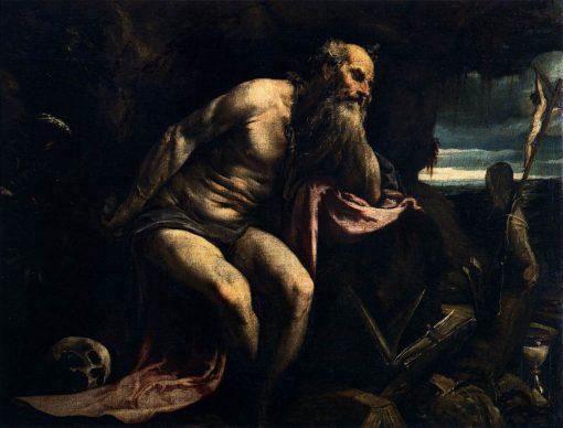 Saint Jerome   Jacopo Bassano   Oil Painting