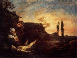 Adam and Eve Mourning for Abel | Johann Liss | Oil Painting