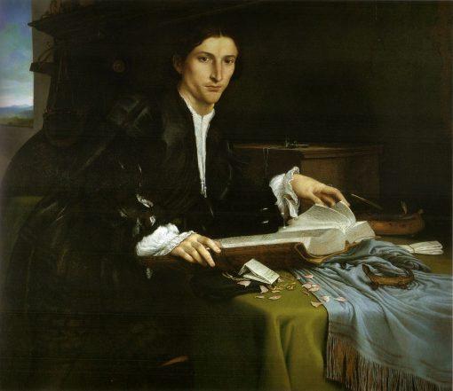 Gentleman in His Study | Lorenzo Lotto | Oil Painting