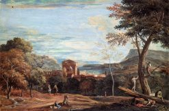 Landscape with Woodcutters and Two Horsemen | Marco Ricci | Oil Painting