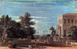 Villa in a Park Setting | Marco Ricci | Oil Painting