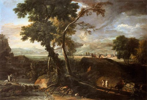 Landscape with River and Figures | Marco Ricci | Oil Painting