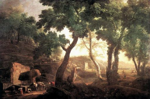 Landscape with Watering Horses | Marco Ricci | Oil Painting