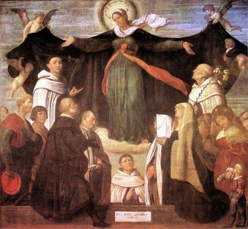 The Virgin of Carmel   Moretto da Brescia   Oil Painting