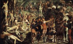 The Martyrdom of the Ten Thousand   Tintoretto   Oil Painting