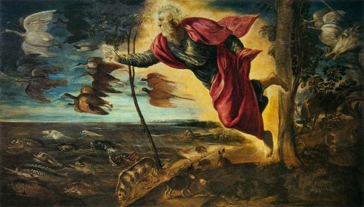 Creation of the Animals   Tintoretto   Oil Painting
