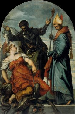 Saints Louis and George and the Princess | Tintoretto | Oil Painting
