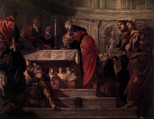 The Presentation of Christ in the Temple   Tintoretto   Oil Painting