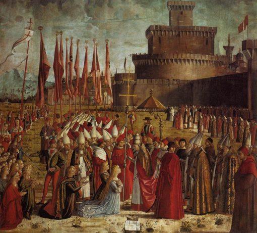 The Pilgrims Meet the Pope   Vittore Carpaccio   Oil Painting
