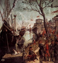 The Arrival of the Pilgims in Cologne | Vittore Carpaccio | Oil Painting