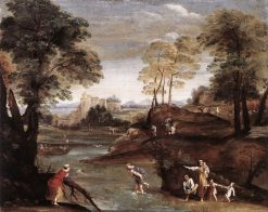 Landscape with a Ford | Domenichino | Oil Painting