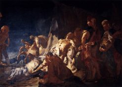 Death of Darius | Giovanni Battista Piazzetta | Oil Painting