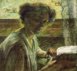 Portrait of a Young Woman | Umberto Boccioni | Oil Painting