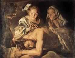 Samson and Delilah   Matthias Stomer   Oil Painting
