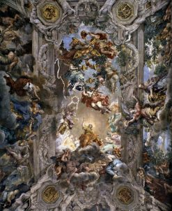 The Triumph of Divine Providence (ceiling vault of salon) | Pietro da Cortona | Oil Painting