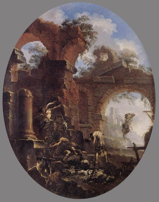 A Friar Tempted by Demons | Salvator Rosa | Oil Painting