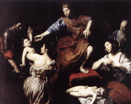 The Judgement of Solomon   Valentin de Boulogne   Oil Painting