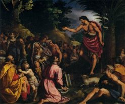 The Preaching of Saint John the Baptist | Alessandro Allori | Oil Painting