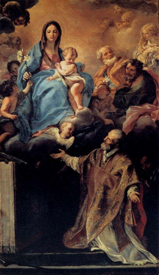 The Virgin Appearing to St Philip Neri   Carlo Maratta   Oil Painting