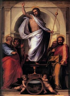 Salvator Mundi(also known as 'Christ with the Four Evangelists') | Fra Bartolomeo | Oil Painting