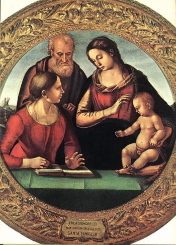 Madonna and Child with St Joseph and Another Saint | Luca Signorelli | Oil Painting