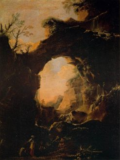 Grotto with Cascades | Salvator Rosa | Oil Painting