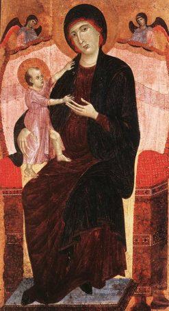 Gualino Madonna   Duccio di Buoninsegna   Oil Painting