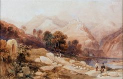 The Drachenfels on the Rhine | James Duffield Harding | Oil Painting