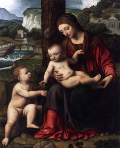 Madonna and Child with Saint John | Bernardino Luini | Oil Painting