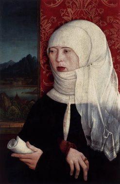 Portrait of Martha Thannstetter (née Werusin)   Bernhard Strigel   Oil Painting