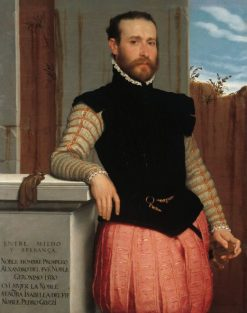 Portrait of Prospero Alessandri | Giovanni Battista Moroni | Oil Painting