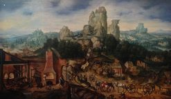 Landscape with Ore Mine and Forge | Herri met de Bles | Oil Painting