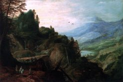 Landscape with a Mountian Pass | Joos de Momper the Younger | Oil Painting