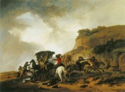Convoy under Attack | Philips Wouwerman | Oil Painting