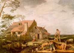 Landscape with Peasants Resting | Abraham Bloemaert | Oil Painting