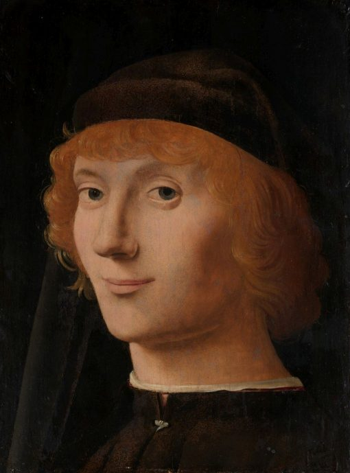 Portrait of a Young Man   Antonello da Messina   Oil Painting