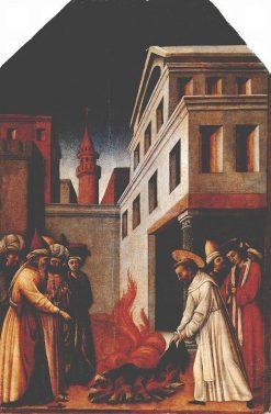 The Fire Miracle of Saint Peter Martyr | Antonio Vivarini | Oil Painting