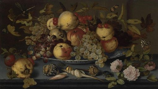 Still Life with Dish of Fruit    Balthasar van der Ast   Oil Painting