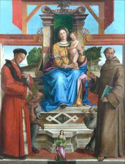 Madonna Enthroned with Saints Homoborus