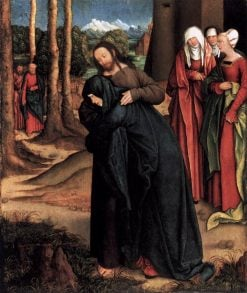 Christ Taking Leave of His Mother   Bernhard Strigel   Oil Painting