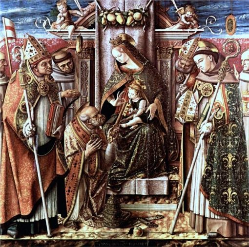 Virgin and Child Enthroned with Saints | Carlo Crivelli | Oil Painting