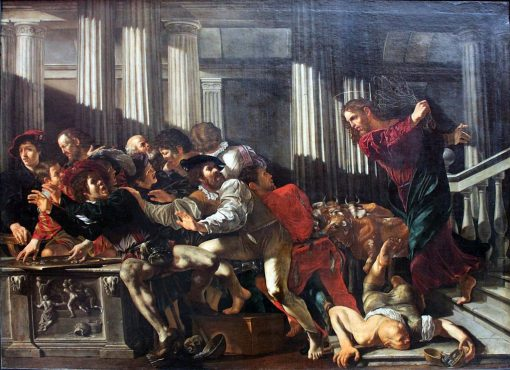 Christ Drives the Money Traders Out of the Temple | Cecco del Caravaggio | Oil Painting