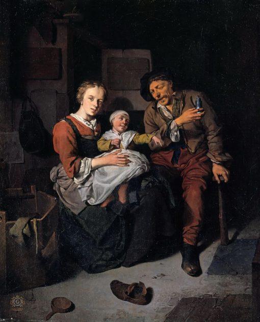 A Peasant Family | Cornelis Pietersz Bega | Oil Painting