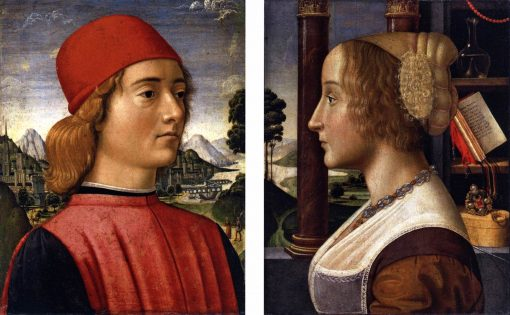 Portraits of a Young Man and Young Woman | Davide Ghirlandaio | Oil Painting