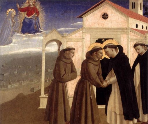 Meeting of Saint Francis and Saint Dominic | Fra Angelico | Oil Painting