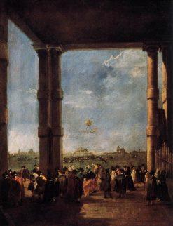 Hot-air Balloon Rising | Francesco Guardi | Oil Painting