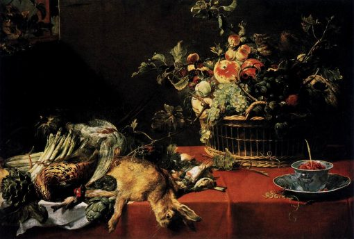 Still Life with Fruit Basket and Game   Frans Snyders   Oil Painting